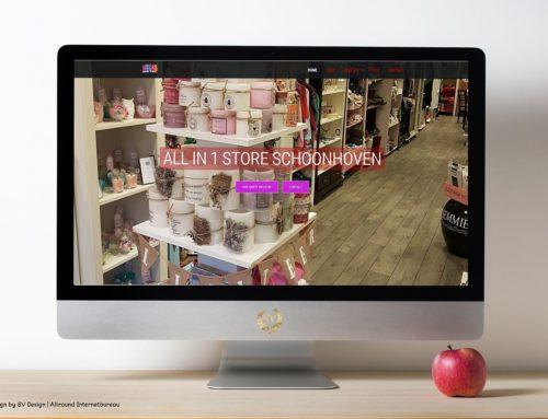Webdesign voor All in One Store Schoonhoven
