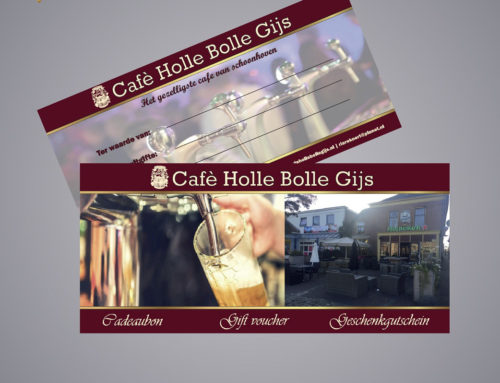 CADEAUBONNEN VOOR CAFE HOLLE BOLLE GIJS