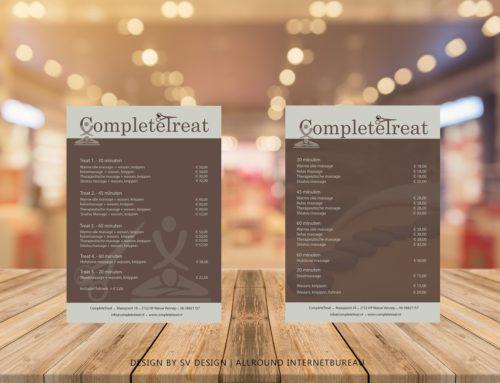 Flyer design voor CompleteTreat