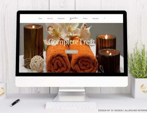 Webdesign voor CompleteTreat