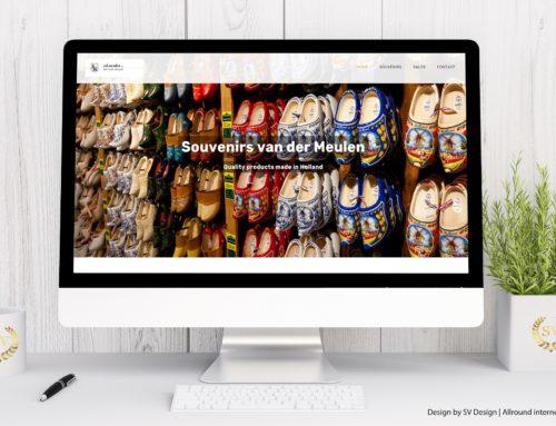 Webdesign voor Souvenirs van der Meulen VOF