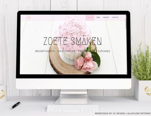 Webdesign voor Zoete Smaken